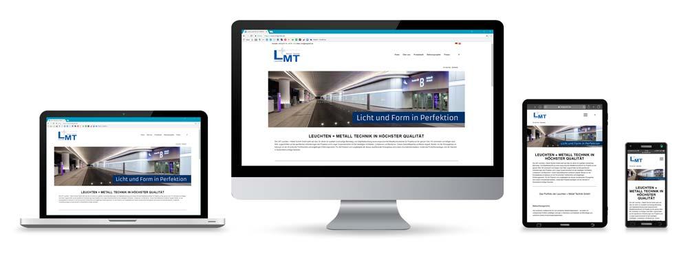 Website der LMT auf diversen Geräten